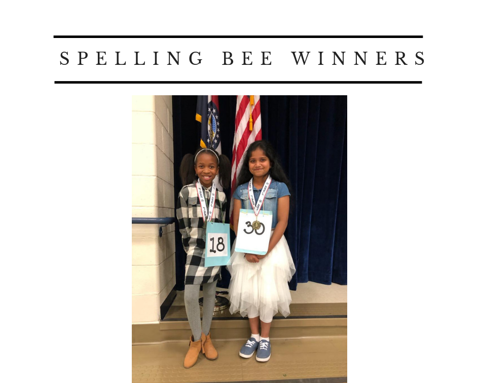 Photos of The Spelling Bee Winners Click for More Information.
