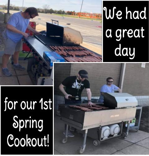Grilling some great hot at PRE Spring Cookout!