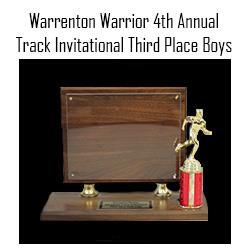 Warrenton Warrior Boys 3rd Place