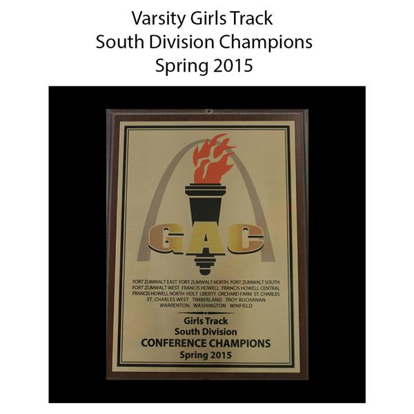 2015 Varsity Girls Track South Division Champions spring