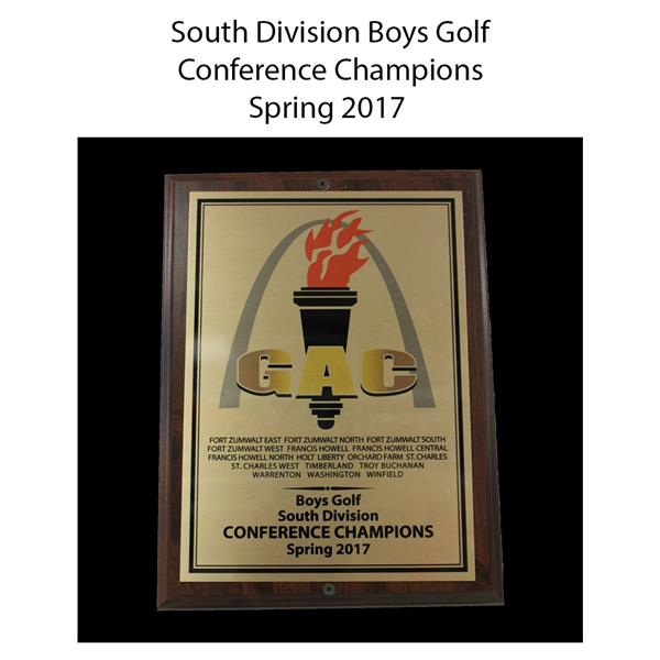 2017 Boys Golf South conference champions spring
