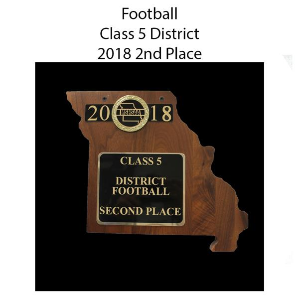 2018 Football District 5 Second Place