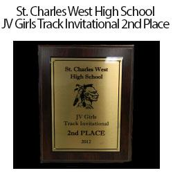 St. Charles West JV Girls 2nd Place