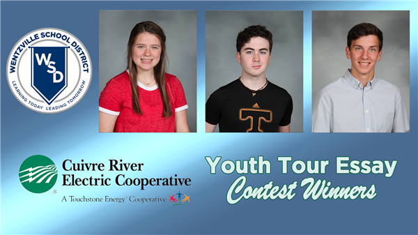 Three WSD Students Win Cuivre River Youth Tour