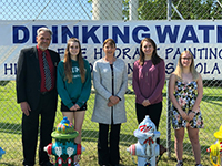 WSD Students Win Scholarships for Hydrant Art