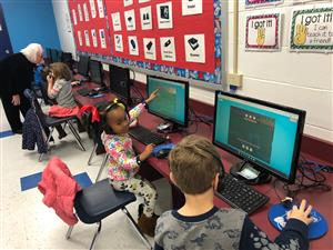 Kids at Heritage Primary coding