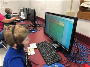 Kids coding at Heritage Primary