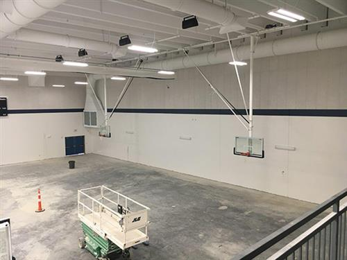 new gym interior at Holt