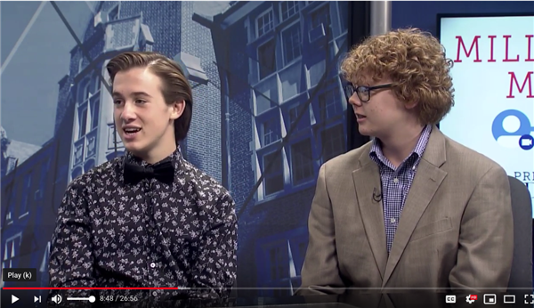 "<a href=https://youtu.be/yoa6uwdj1TM>Timberland Students Shine on LUTV Show ""Millennial Media""</a>"